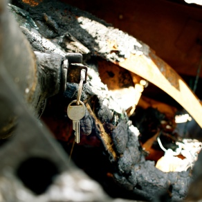 Keys in Burned Vehicle