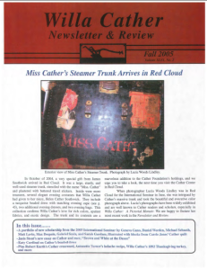 Willa Cather Newsletter and Review