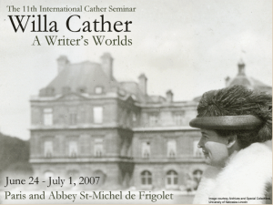 International Cather Seminar 2007
